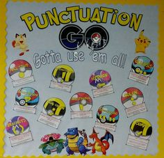 Pokemon themed punctuation display.