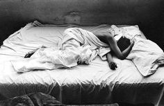 Barbara in our Bed    photo by Will McBride, Berlin 1959.