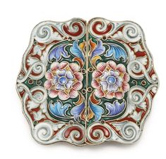 A Russian gilded silver and shaded enamel belt buckle, Fedor Rückert, Moscow, 1898-1908 | Lot | Sotheby's
