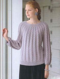 Sweater with torsade