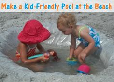 If you don't want ot pack one, make a beach pool – this is great for days of strong waves or a strong tide. Tihs nad 40 Beach Trip tiips and Tricks