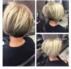 his is one of my favorite clients Tecla! She's awesome and almost let me shave the underneath maybe next time. Cut and Swing Bob Hairstyles, Edgy Bob Haircuts, Medium Short Haircuts, Inverted Bob Hairstyles, Cool Hairstyles, Short Hair Dos, Very Short Hair, Short Hair Cuts For Women, Short Hair Styles