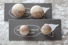 Rose Gold Glitter Dip Dyed Wood Statement by TheBirdsWordBoutique