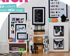 Art Advertising - Low to Middle Market Department Store Retailer Department Store, Gallery Wall, Advertising, Middle, Colours, Black And White, Frame, Picture Frame, Black N White