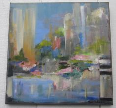 Titled Light in the City  Artist: Patt Richardson LeMarie  background: It sold in New Orleans to the prop dept of a movie set. Some think it looks like NYC, others Chicago and some New Orleans.