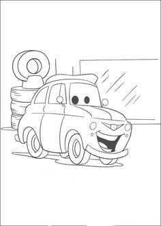 Disney Cars Printable Coloring Pages red fire truck