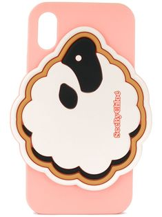 Cement beige and pink silicone sheep iPhone X/XS case from See by Chloé featuring a camera hole. Designer Ipad Cases, Iphone 11, Iphone Cases, Cell Phone Covers, See By Chloe, Sheep, Neutral, Beige, Cement