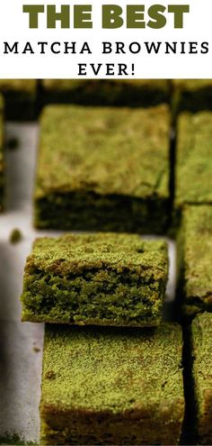 Where are my matcha green tea dessert lovers at!? This matcha brownie recipe is made with matcha green tea powder and white chocolate for a perfectly fudgy, chewy, and delicious brownie recipe. With each bite you will get the rich matcha flavor and the decadence of a brownie texture all in one. Grab your matcha powder and let's bake! #matcha #matchabrownie #whitechocolatebrownie #whitechocolate Best Dessert Recipe Ever, Quick Dessert Recipes, Fun Desserts, Sweet Recipes, Green Tea Dessert, Matcha Dessert, Best Matcha, Matcha Green Tea Powder, Business Gifts