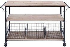 Hopper Storage Cart - Kitchen Carts - Kitchen & Dining Room - Furniture - Storage Carts - Storage & Organization | HomeDecorators.com