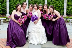 Lovely purples, wild orchid and pinks in these bouquets by Petals Premier in Teterboro