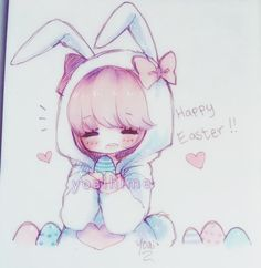 Easter doodle~! Whether you celebrate it or not, I hope you have a fantastic day…