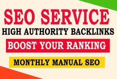 I am offering authority which boost your ranking fastly. If you need real & hat service then you can buy my gig. I have a full service agency which already ranked many websites.