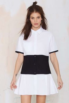 Nasty Gal Middle Ground Shirt Dress