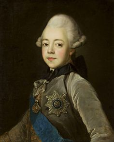 Portrait of Paul I of Russia as a boy by Jean Louis Voille, ca. 1770 (PD-art/old), Muzeum Narodowe w Warszawie (MNW)