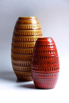 West German Red Vase Jasba 60s by 1001vintage on Etsy