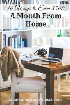 10 Creative Ways to Earn $500 a Month From Home. Are you a stay at home mom that would like to add a little to your family income every month?  Maybe you work full-time or part-time but would still like to increase your income with a side hustle?  With a little creativity,  everyone can find jobs and earn extra money working at home. Money Making Ideas, Making Money, #MakingMoney