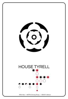 SPOILERS House Tyrell // Rose Sigil Pictogram and by TheGeekerie