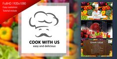 Cook With Us  Cooking TV Show Pack  After Effects Template - Download preview here : https://0.s3.envato.com/h264-video-previews/4125837.mp4
