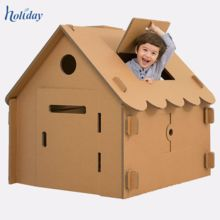 Paper House - Cardboard Playhouse - Buy Eco Friendly Paper House Product on Holidaypac - Holiday Plywood Furniture, Playhouse Furniture, Fireplace Furniture, Diy Fireplace, Design Furniture, Fireplace Design, Cardboard Playhouse, Cardboard Display, Build A Playhouse