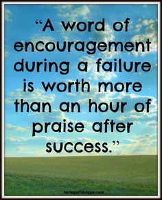 We always need to hear something nice in times of disappointment. Encourage someone today. It's a big deal. #inspiration #quote #thoughtoftheday #lorisgolfshoppe