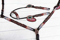 Horse Show Bridle Western Leather Rodeo Headstall Breast Collar Rodeo Tack in Bridles, Reins & Accessories. Western Bridles, Tack Sets, Amazon Image, Headstall, Sell On Amazon, Horse Tack, Show Horses, Rodeo, Westerns