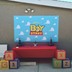 best Ideas for baby boy themes toy story Baby Boy Themes, Party Themes For Boys, Boy Baby Shower Themes, Baby Shower Gender Reveal, Baby Boy Rooms, Baby Shower Games, Baby Boy Shower, Toy Story Baby, Toy Story Theme