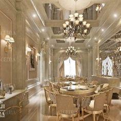 Villa Dining Room Design Photos by Algedra Interior Team