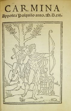 Woodcut of Apollo with the coat of arms of Cardinal Henry Beaufort by Penn Provenance Project, via Flickr