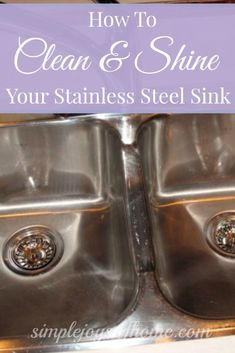 This is a great way to clean your stainless steel sink.  It's a quick task that will make your kitchen sparkle!