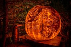 Amazing Pumpkin Carvings Made From Pens, Markers And Paring Knives