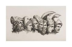 History & Mythology — pourvouslemonde: Greek heroes from the Iliad by. Greek Men, Greek Gods, Homer Iliad, Etching Tattoo, Daughter Of Zeus, Dibujo, Arm Tattoos, Mexican Art, Tattoos