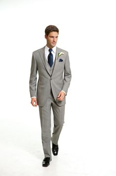 Freeman Formalwear Style 9929 The grey wedding suit by Coppley. This is what I hope the guys will be wearing.