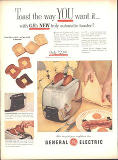 General Electric GE Automatic Toaster Page LIFE October 12 1953