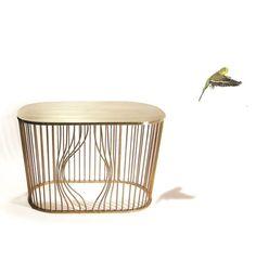 Une table basse sous forme de cage dorée pour un esprit chic assuré - L'esprit jardin se fait chic - CôtéMaison.fr