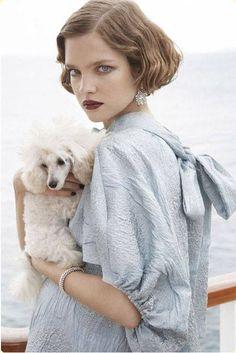 J'ADORE BLEU with Poodle Friend
