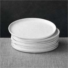 Set of 8 Mercer Salad Plates at Crate and Barrel Canada. Discover unique furniture and decor from across the globe to create a look you love. Small Apartment Furniture, Tiny Furniture, Porch Furniture, Furniture Ideas, Grey Dinner Plates, Dinner Plate Sets, Grey Plates, Porcelain Dinnerware, Dinnerware Sets