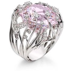 Diamond and Kunzite Ring by Brumani - unique jewelry, love love love this!