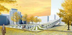 The amphitheater proposal for Seoul Share Square #HospitalityDesign #HospitalityDesignMagazine #hdmag  #design #inspiration #DrorBenshetrit