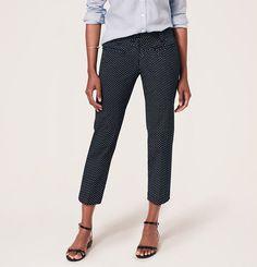 Ann Taylor LOFT Petite Floral Print Stretch Cotton Cropped Pants in Marisa Fit #AnnTaylorLOFT #floralpants #loveLOFT #hudsonsharbor