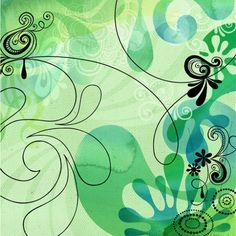 Jess Volinski- Illustration & Surface Design - Layered Loveliness - jessvolinski_fluidforms4_green.jpg