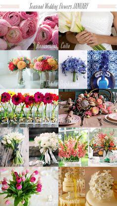 Flowers in Seanson: January Wedding Flowers