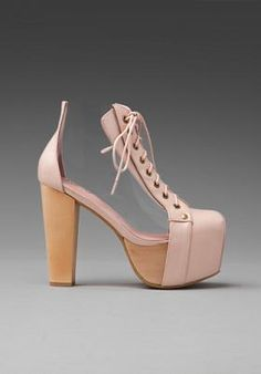 Jeffrey Campbell Cleata in Nude/Clear