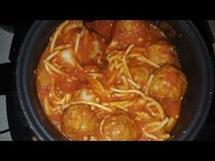 Easy Spaghetti and Meatballs Cook's Essentials Digital Perfect Cooker Elite Pressure Cooker, Wolfgang Puck Pressure Cooker, Instant Pot Pressure Cooker, Perfect Cooker Recipes, Rice Cooker Recipes, Recipes With Beef And Vegetables, Small Rice Cooker, Pressure Cooker Spaghetti, Grilling Recipes