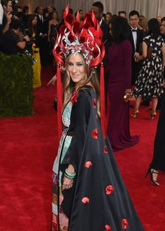 Pin for Later: Sarah Jessica Parker Is on Fire at the Met Gala