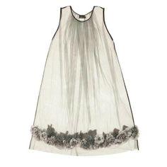 Akira Isogawa Heavily Embroidered Gathered Tulle Dress