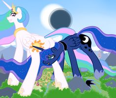 #21231 - artist:khorme, asshat, giant pony, macro, plot, princess celestia, princess luna, safe, sunbutt - Derpibooru - My Little Pony: Friendship is Magic Imageboard