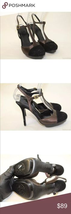 Tory Burch NWT satin & suede t-strap brown pump Tory Burch NWT satin & suede t-strap chocolate brown pump size 7.5 (no original box included) Tory Burch Shoes Heels