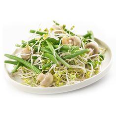 Une salade de haricots verts, champignons et radis pour un repas plein de fraîcheur !