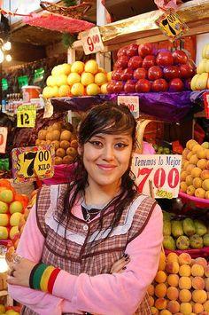 Fruit seller, Mercado de la Merced, Mexico DF