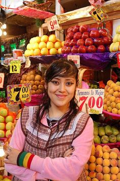Fruit seller, Mercado de la Merced, Mexico DF